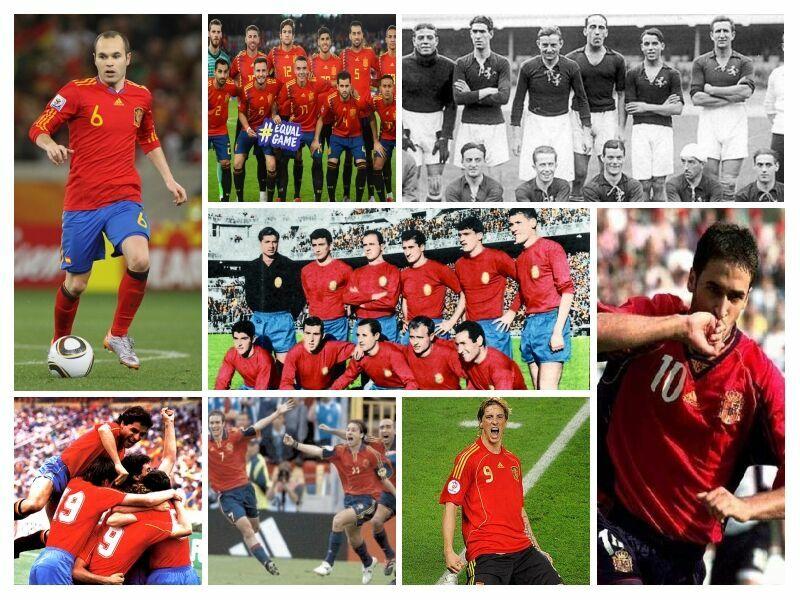 33499 - ¿Sabrías decir a qué año/competición corresponde cada una de estas camisetas de la selección española de fútbol?