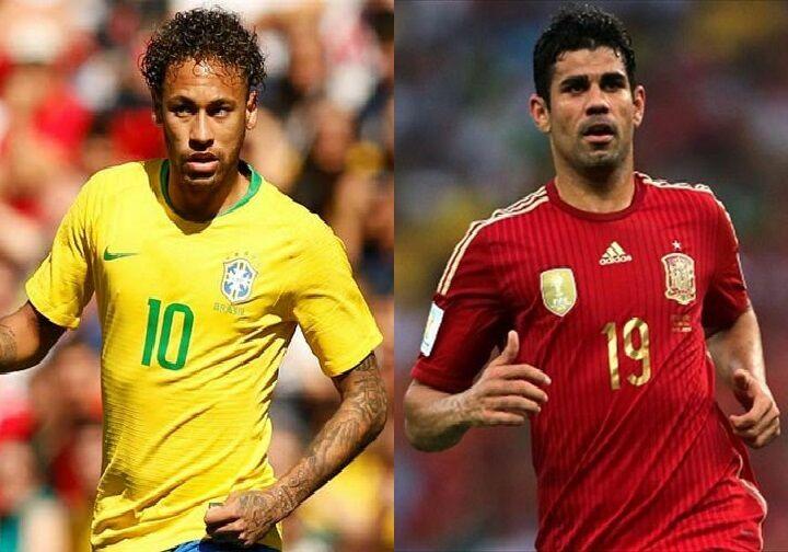 ¿Nacieron en la misma década los futbolistas Neymar Junior y Diego Costa?