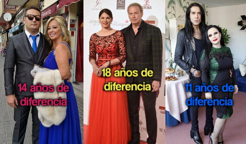 34741 - ¿Cuántos años de diferencia se llevan estas parejas del ámbito mediático español?